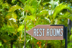 Rest Room sign Royalty Free Stock Photo