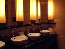 Rest room where hotel is beautiful Stock Images
