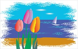 The rest. Sail flowers nature Royalty Free Stock Photos