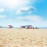 Rest on the sand beach. summer photo near sea Royalty Free Stock Photos