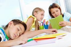 Rest in school Royalty Free Stock Image
