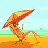Rest At Sea Illustration Stock Photo