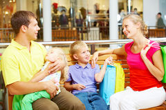 Rest after shopping Stock Photo