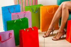 Rest after shopping royalty free stock photos