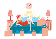 Rest after shopping Royalty Free Stock Images