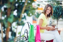 Rest after shopping Stock Image