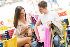 Rest After Shopping Stock Photography
