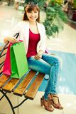 Rest between shopping Royalty Free Stock Image