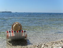 Rest on the shore of the Adriatic Stock Image