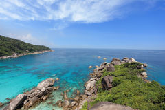 Rest on the Similan Islands. Thailand. Azure and smooth water lagoon Stock Images
