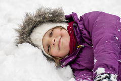 Rest in snow Royalty Free Stock Images