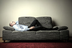 Rest in sofa Royalty Free Stock Photo