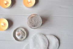 Rest in the spa. Beauty care. Relaxation time for youself. Aromatherapy. Stock Photography