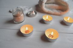 Rest in the spa. Beauty care. Relaxation time for youself. Aromatherapy. Stock Images