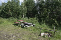 A rest stop in Finland Stock Photo