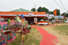 Rest stop during Kanvar Yatra or Kavad Yatra (Hindi Words), it is annual pilgrimage of  devotees of Shiva. Editorial: Gurgaon, India: JULY 31st, 2016: A Rest Royalty Free Stock Images
