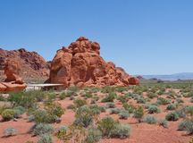 Rest Stop in Valley of Fire Stock Images