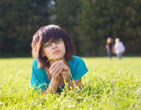 Rest on a summer meadow Stock Photo