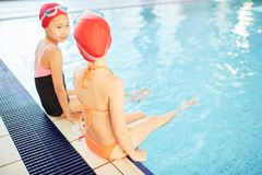 Rest in swimming-pool Royalty Free Stock Photography