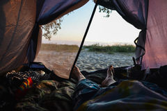 Rest in tent Royalty Free Stock Images