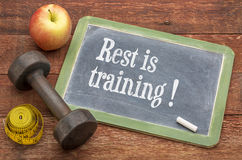 Rest is training Royalty Free Stock Photo