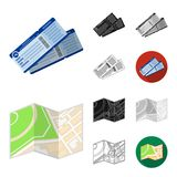 Rest and travel cartoon,black,flat,monochrome,outline icons in set collection for design. Transport, tourism vector. Symbol stock  illustration Royalty Free Stock Photos