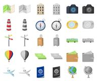 Rest and travel cartoon,monochrom icons in set collection for design. Transport, tourism vector symbol stock web. Rest and travel cartoon,monochrom icons in set stock illustration