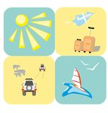 Rest and travel icons Stock Images