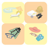 Rest and travel icons. Vector illustration Stock Photos