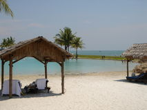Rest by the tropical. Photo shot from a tropical area in asia, by the sea Royalty Free Stock Image