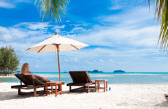 Rest on tropical island Stock Photos