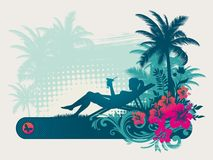 Rest in tropics vector illustration