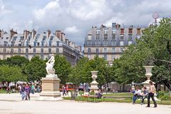 Rest in the Tuileries. Paris, France, June 22: Parisians and guests of the city, having a rest in the park of the Tuileries, June 22, 2012 in Paris. From the Stock Photo