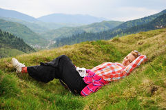 The rest. Rest in Ukrainian Transcarpathia, peace and quiet Stock Image