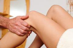 Rest und Entspannung durch Massage Stockfotografie