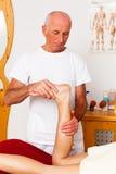 Rest und Entspannung durch Massage Stockbild