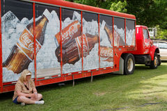 Rest under the soda truck Stock Photography