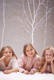 Rest in winter garden Stock Images