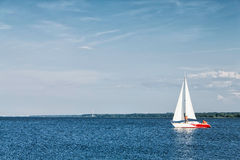 Rest on yacht in bay Stock Photography