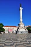 Restaoradores square, Lisbon Royalty Free Stock Photo