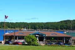 Restaraunt Acadia Natonal Park. Oceanside Restaurant at Acadia National Park Bar Harbor, Maine USA stock image