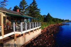 Restaraunt Oceanside Maine Stock Photography