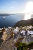 Restaraunt on Santorini, Greece Stock Image