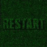Restart code background Stock Photos