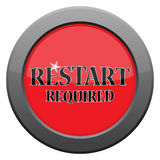 Restart Dark Metal Icon Stock Photos