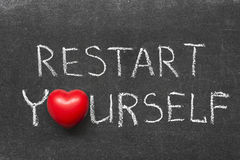 Restart yourself Stock Photo