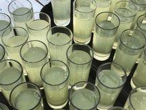 Restauração da limonada do suco fotografia de stock royalty free
