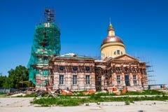 Restauração da paisagem da igreja Imagens de Stock