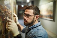 Restauração de pintura foto de stock royalty free