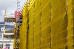 Restauração de uma construção residencial Imagens de Stock